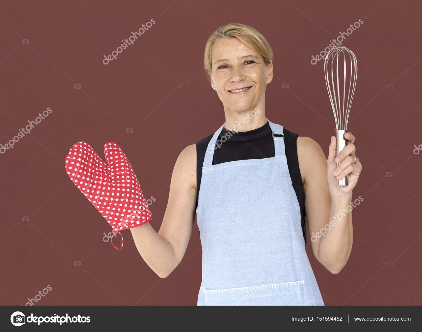 Very blonde in kitchen mature