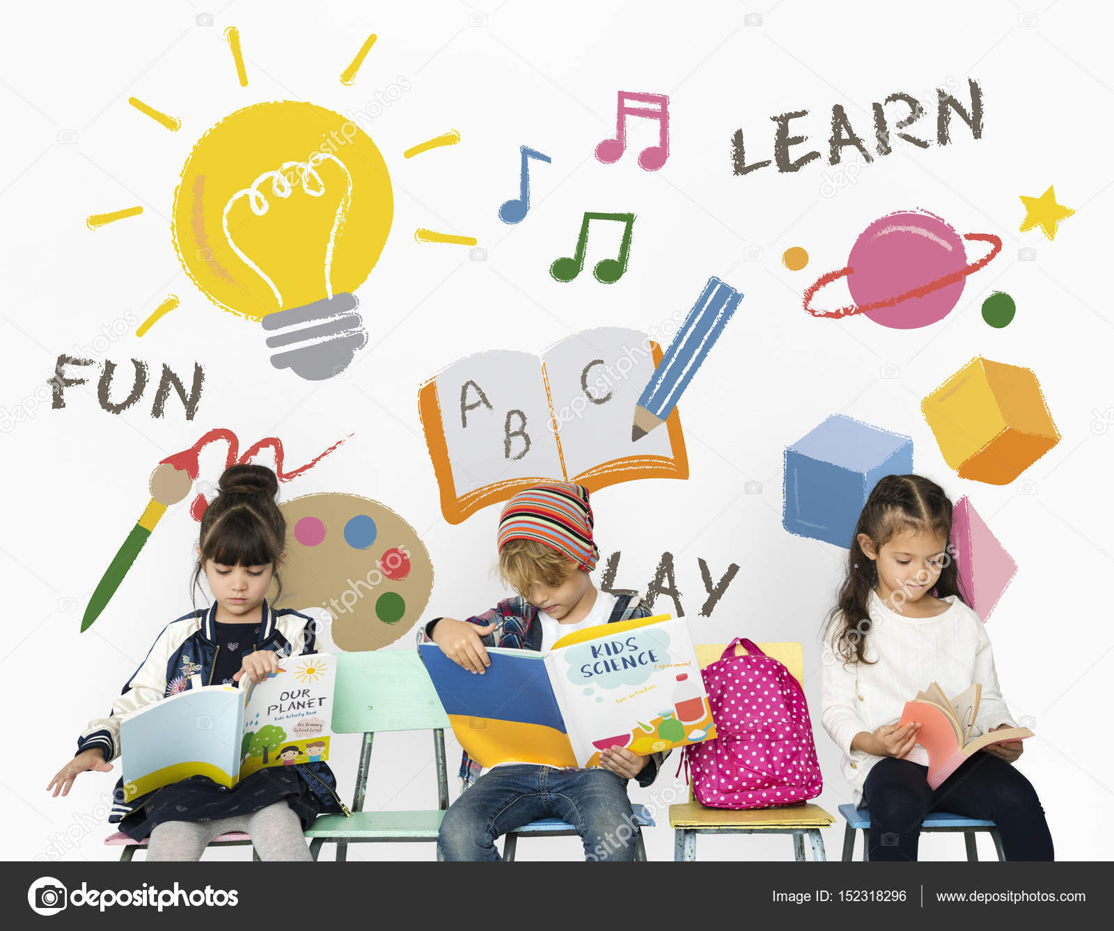 preschool children reading books stock photo rawpixel 152318296