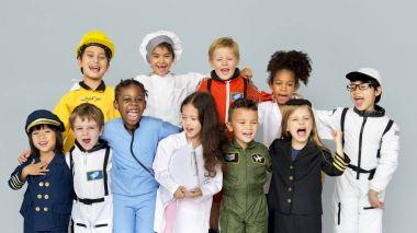 children wearing dream job costumes