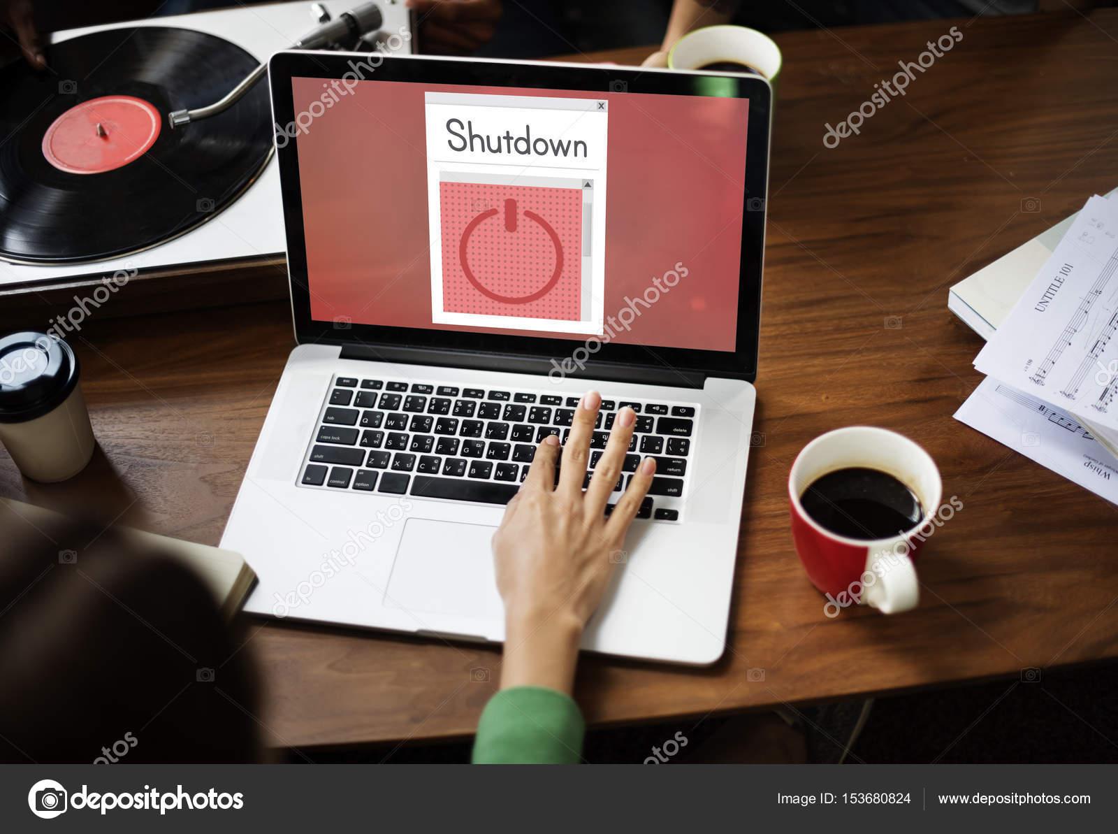 Woman typing on laptop keyboard — Stock Photo © Rawpixel