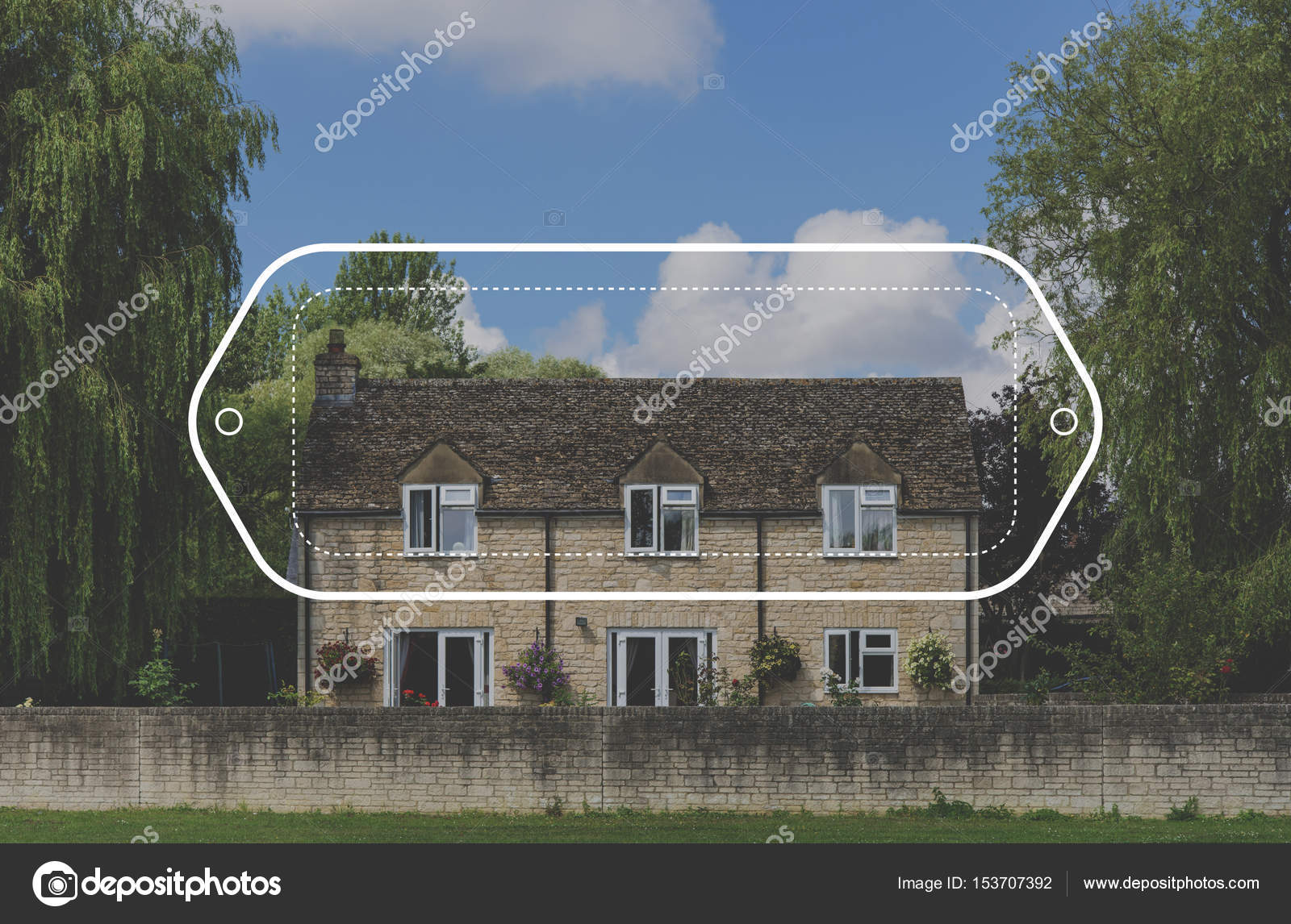 Beautiful Brick Townhouse Building Stock Image