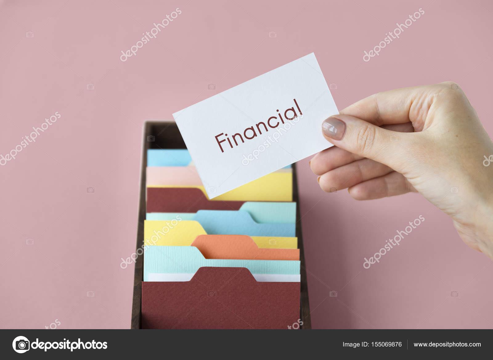 Femme Tenant La Carte De Visite Concept Financier Image Rawpixel