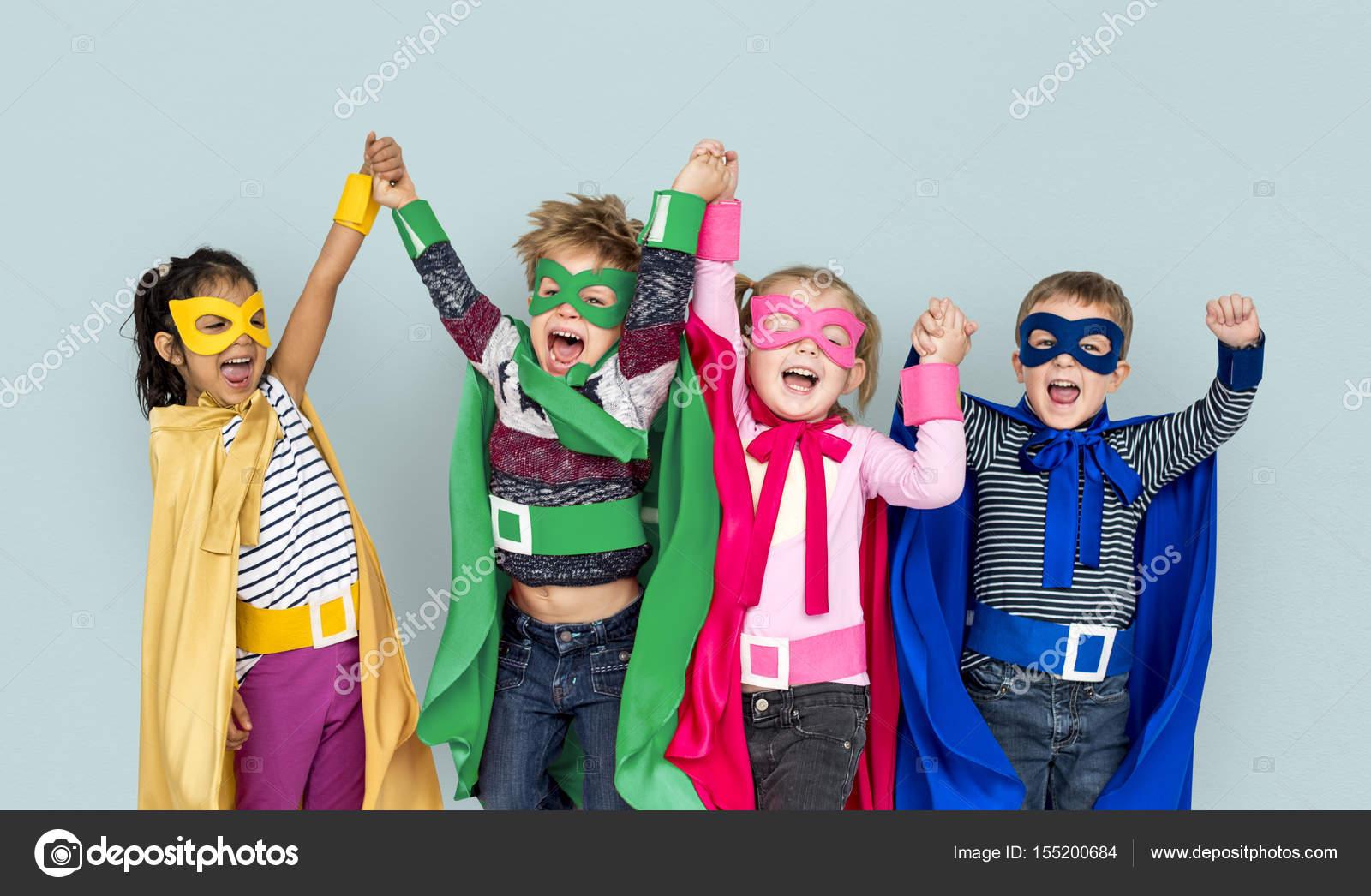 Kinder In Super Held Kostüme Stockfoto Rawpixel 155200684