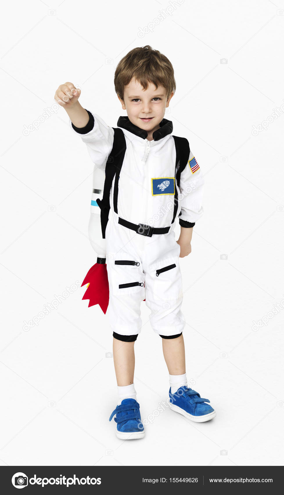 Adorable little boy in astronaut costume with jetpack u2014 Photo by Rawpixel  sc 1 st  Depositphotos & boy in astronaut costume with jetpack u2014 Stock Photo © Rawpixel ...