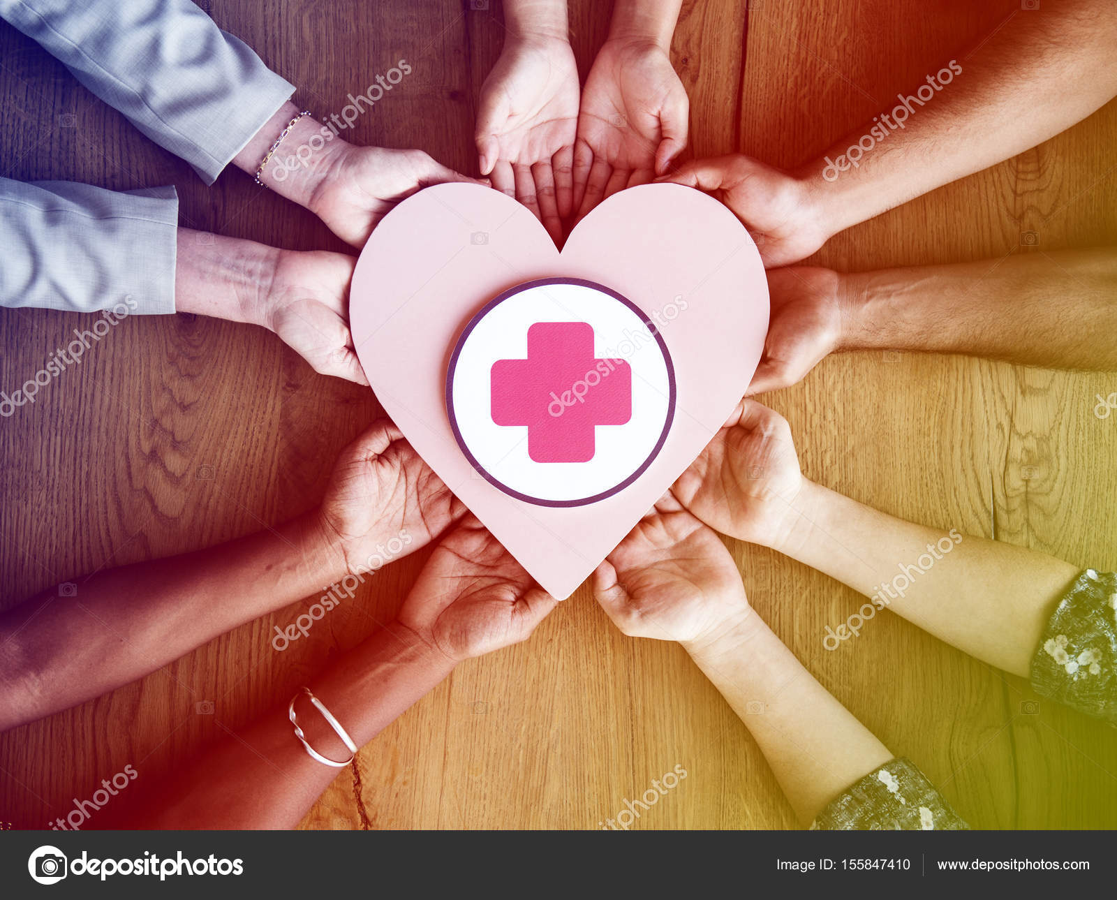 Hands Holding Heart With Red Cross Stock Photo Rawpixel 155847410