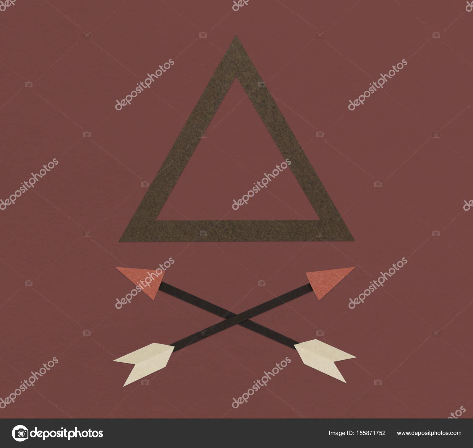 Dreieck-Rahmen und Pfeile — Stockfoto © Rawpixel #155871752