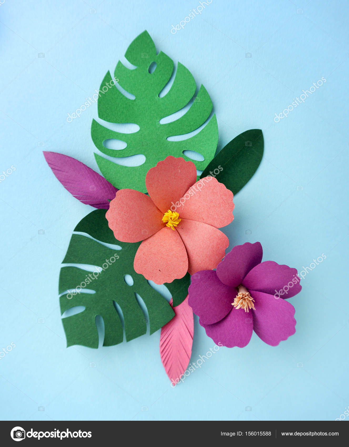 Tropical papercraft flowers stock photo rawpixel 156015588 tropical papercraft flowers stock photo mightylinksfo