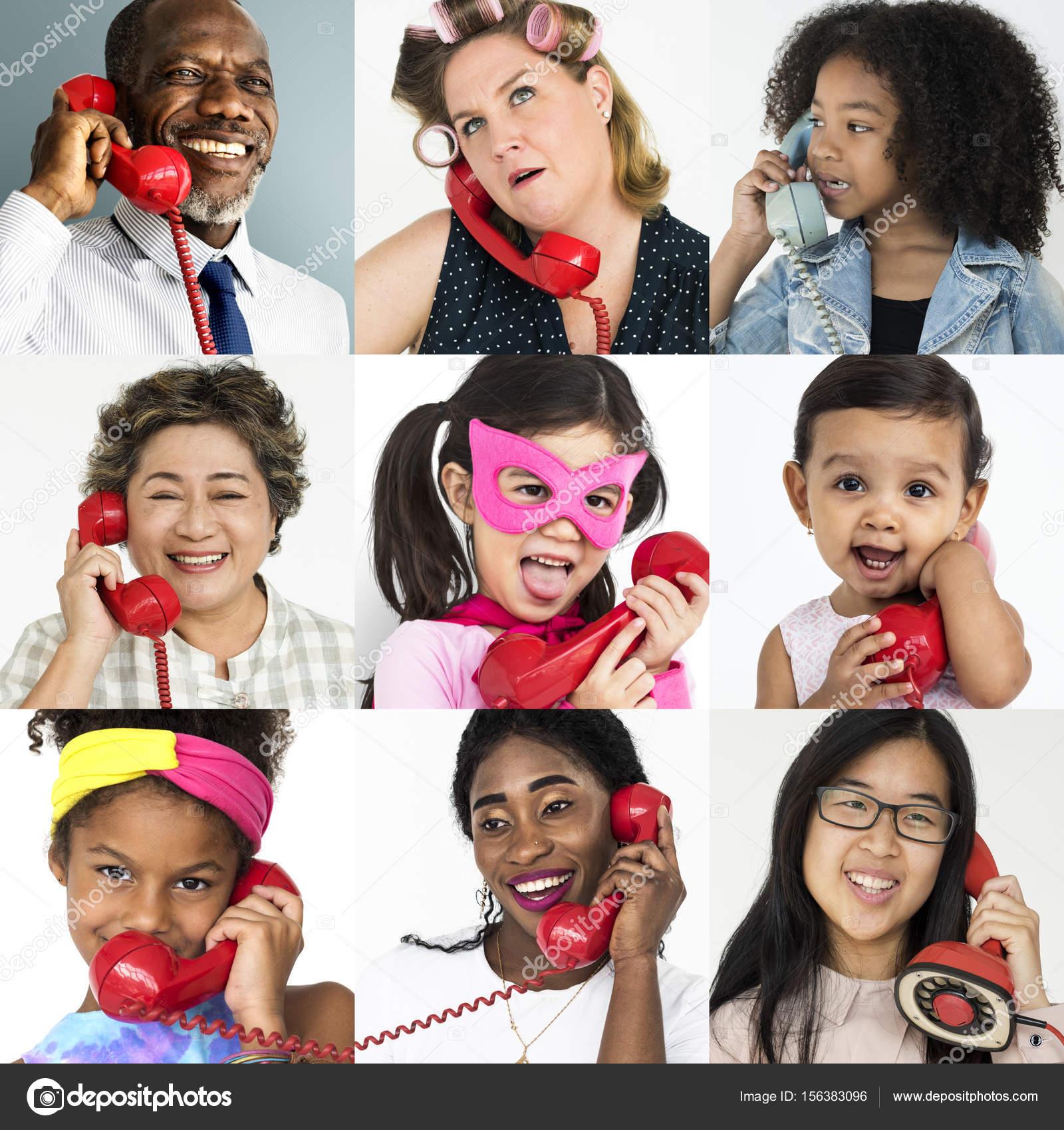 Olika Personer Använder Telefon Stockfotografi Rawpixel 156383096