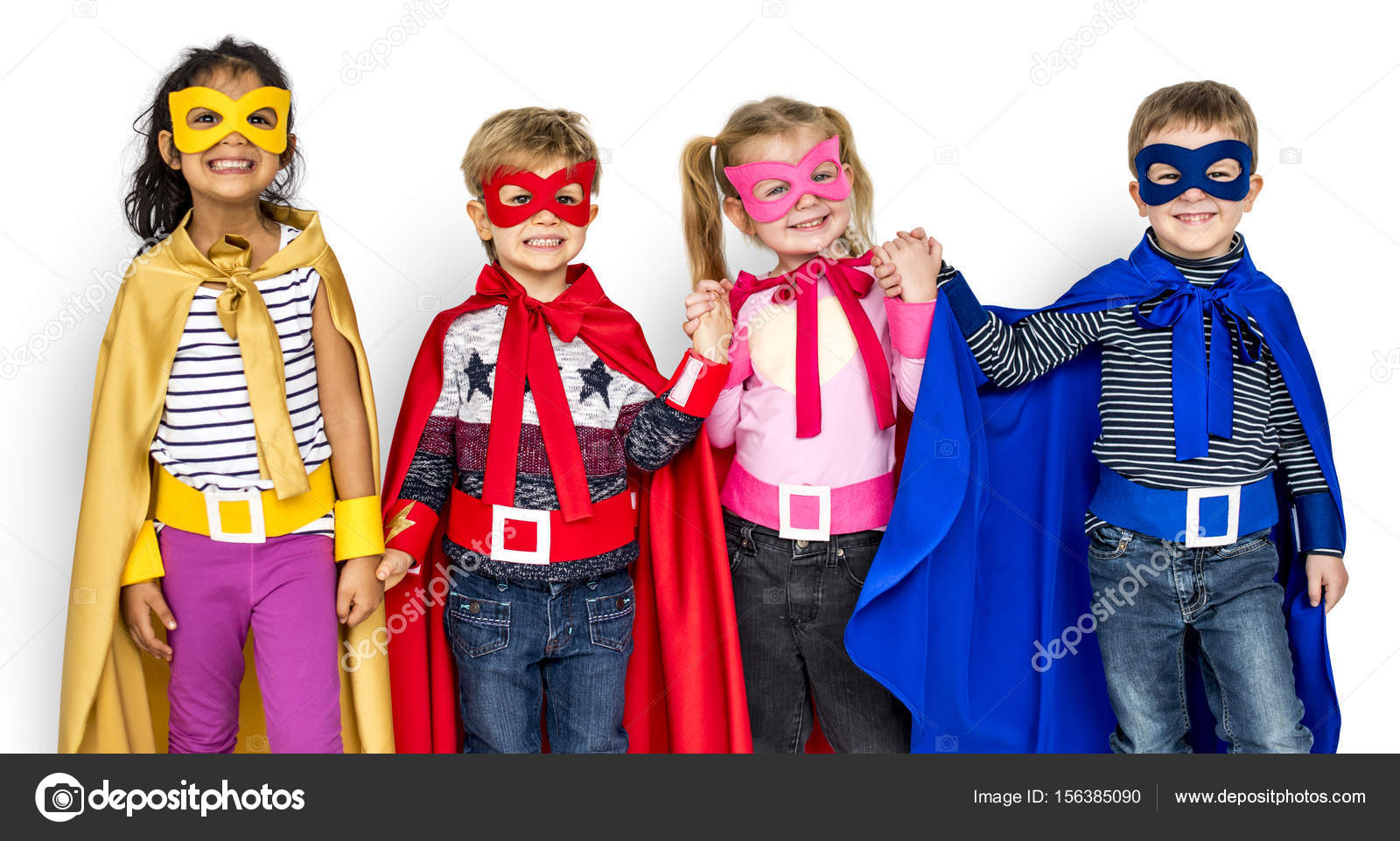 Happy Kids In Super Held Kostüme Stockfoto Rawpixel 156385090