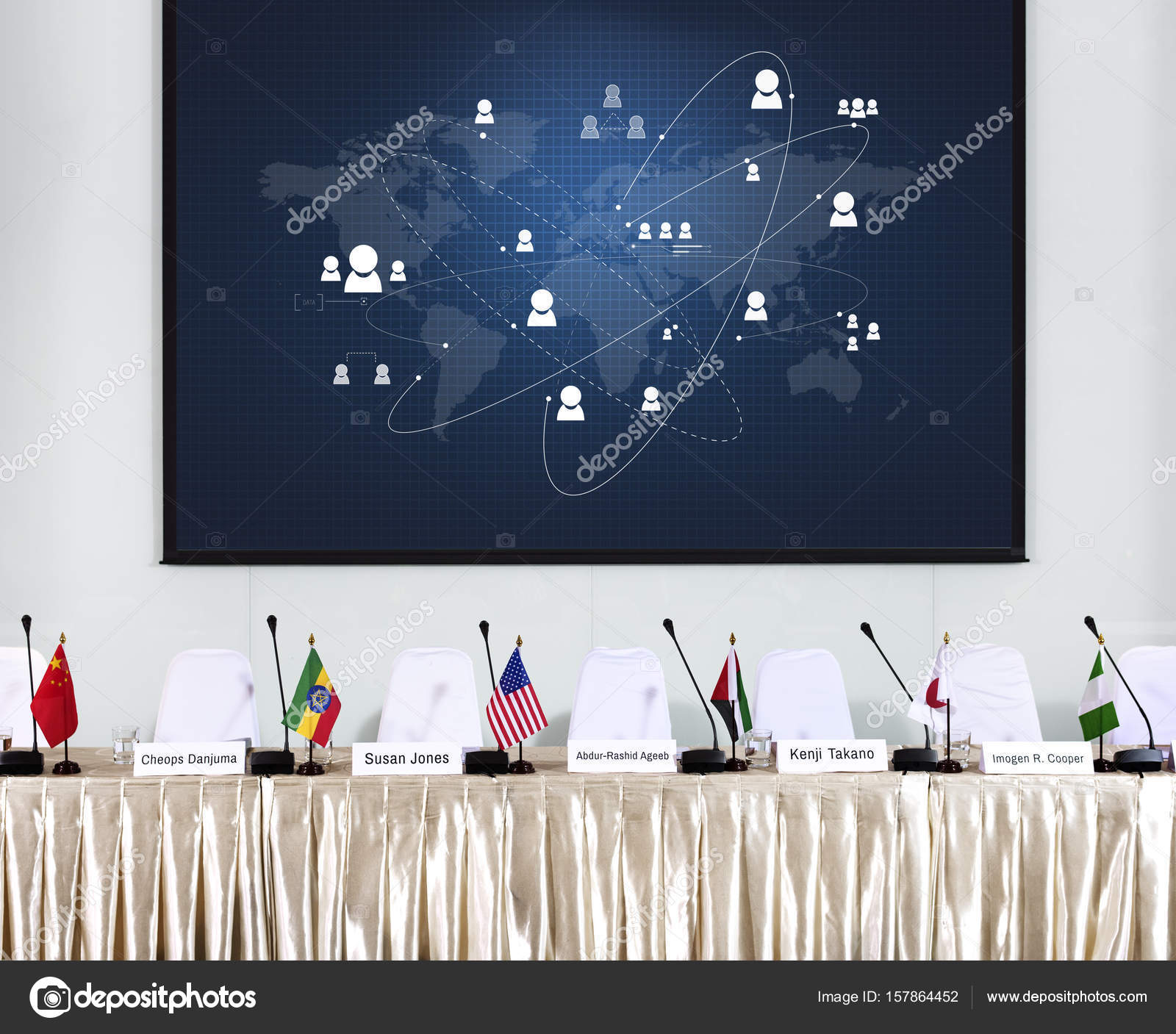 International Global Conference Stock Photo Rawpixel - Global conference table