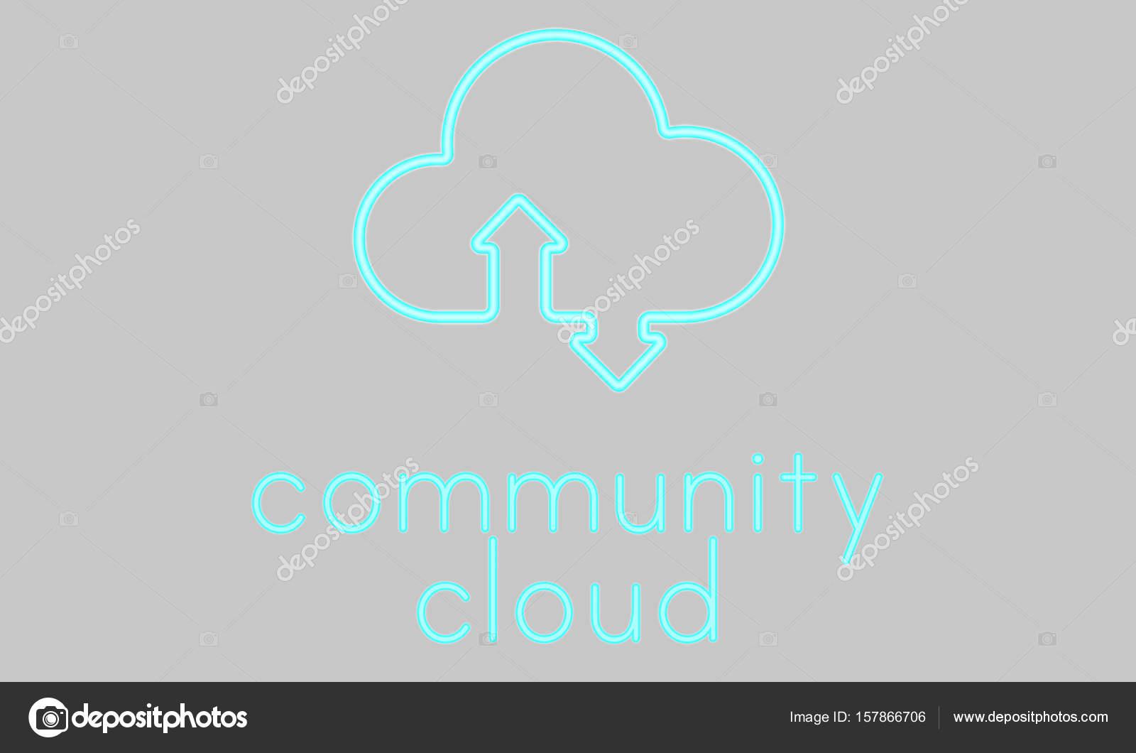 Vorlage mit Community Cloud-Konzept — Stockfoto © Rawpixel #157866706