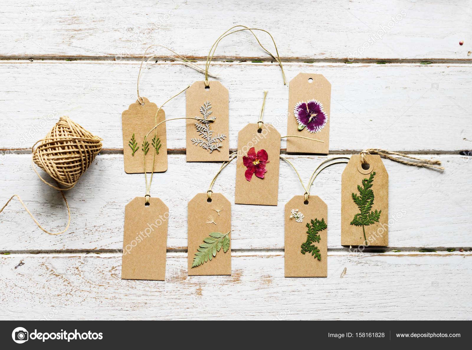 Wooden Table Flowers Pressed Flower Paper Original Photoset Stock