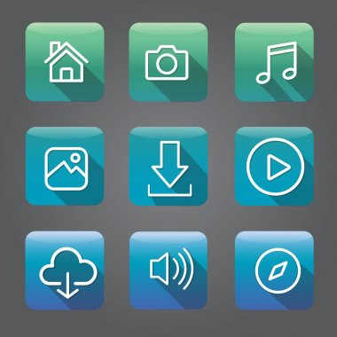 Creative smartphone application icons