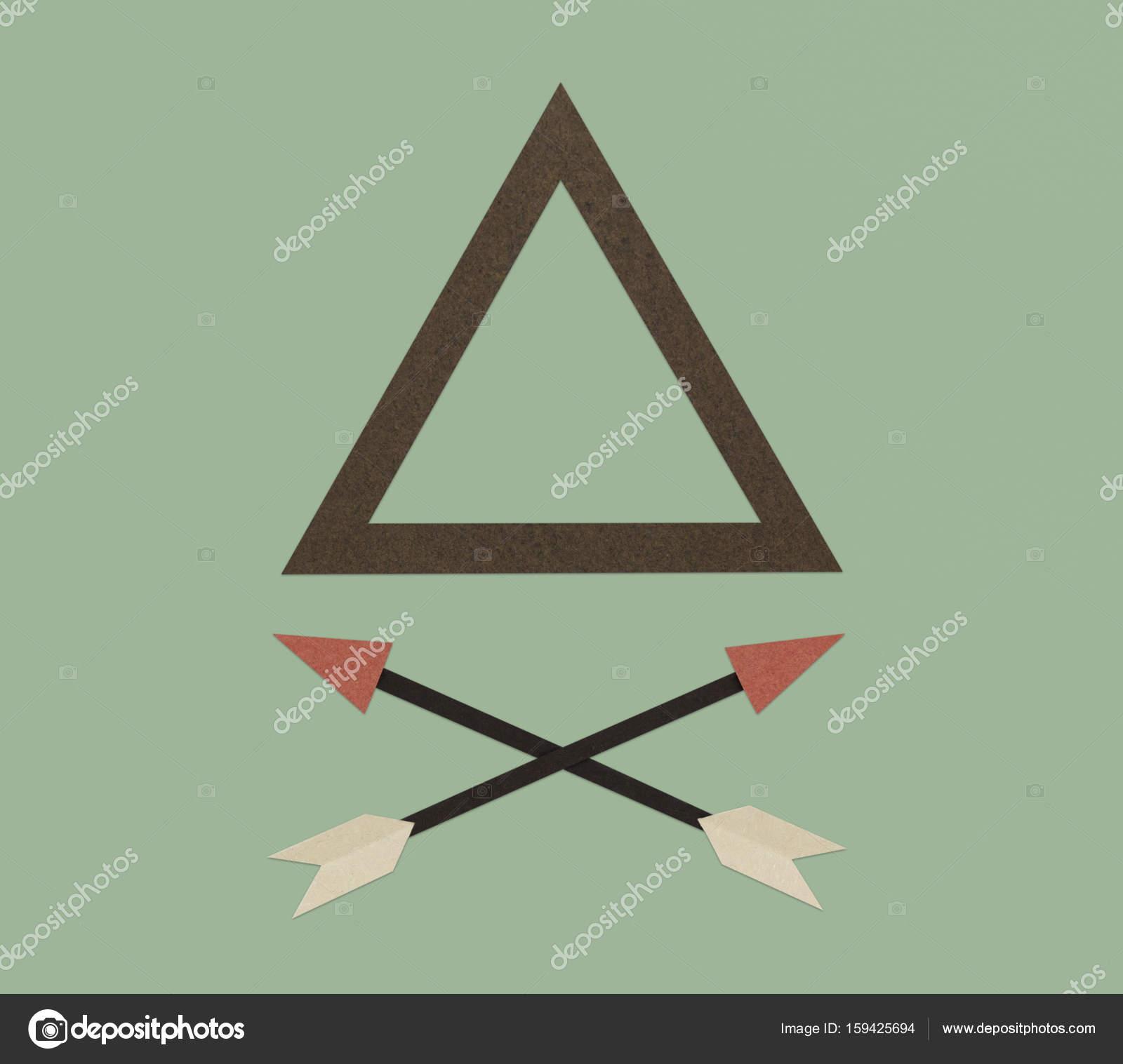 Dreieck-Rahmen und Pfeile — Stockfoto © Rawpixel #159425694