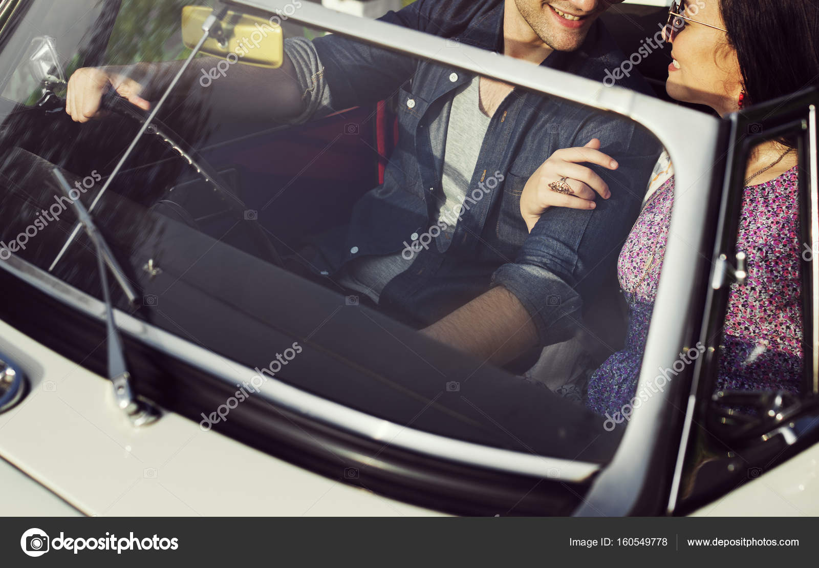 Couple Driving A Car Stock Photo C Rawpixel 160549778