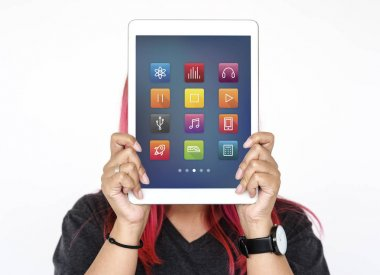 Digital tablet covering face