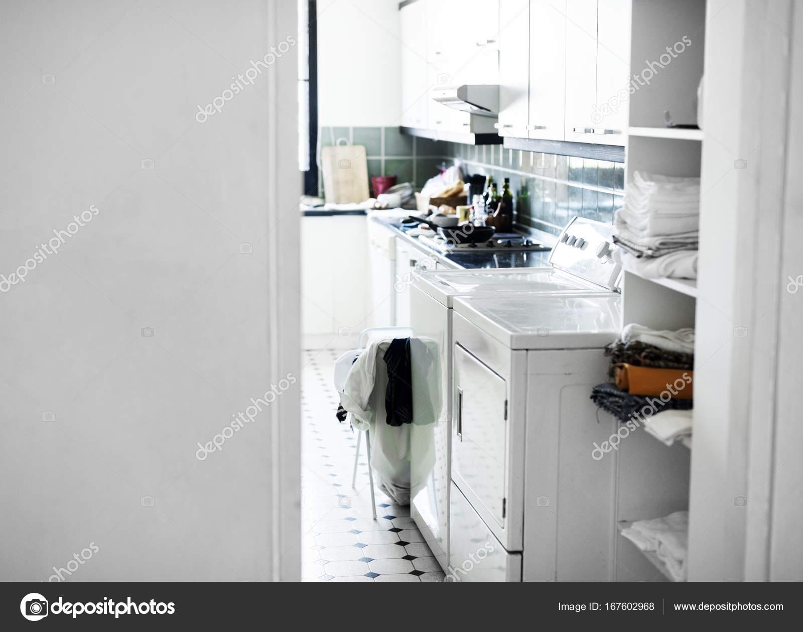 Waschmaschine Der Küche Original Fotoset — Stockfoto ...