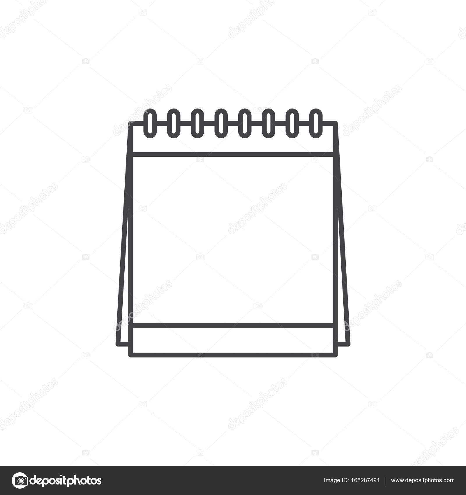 Gliederung-Kalender-Symbol — Stockvektor © Rawpixel #168287494