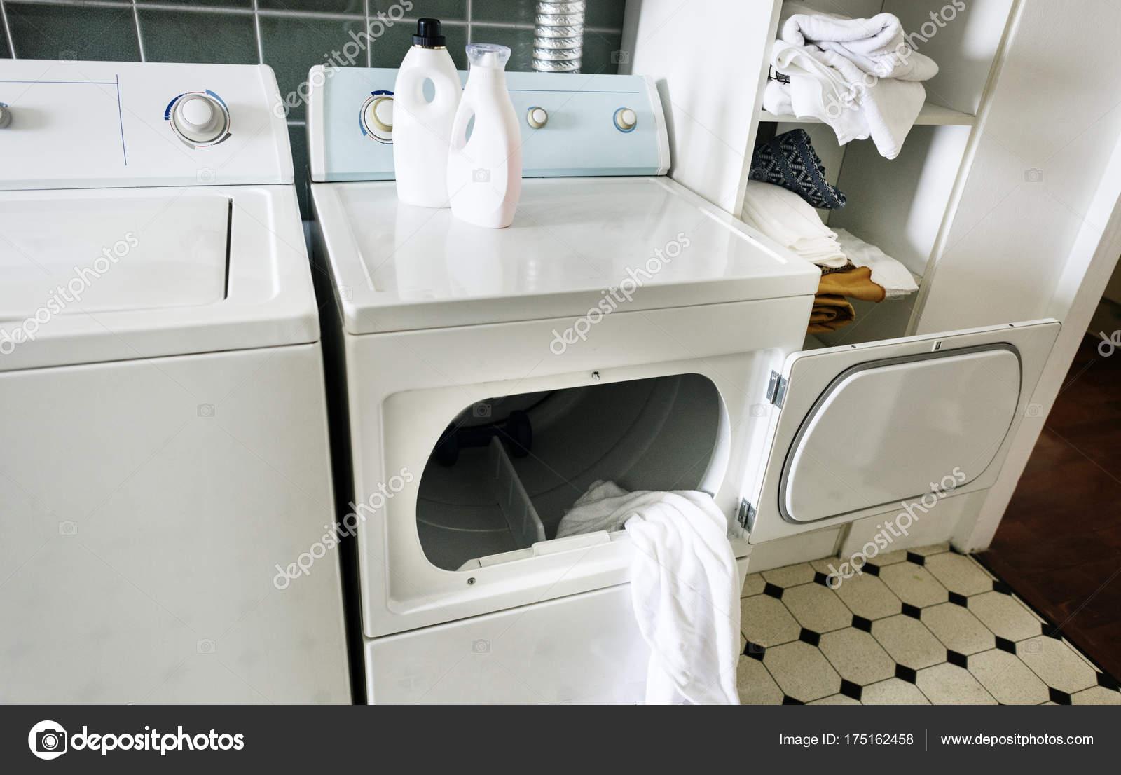 Blickfang Küche Mit Waschmaschine Das Beste Von Der Küche Original Fotoset — Stockfoto