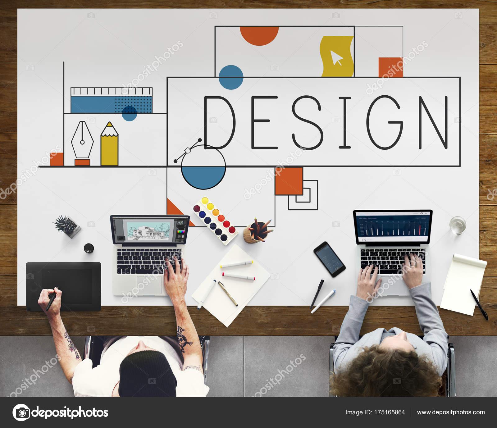 2c55eeea3a4 Kreativní Nápady Design Tvořivost Koncept Originální Sada Fotek — Stock  fotografie