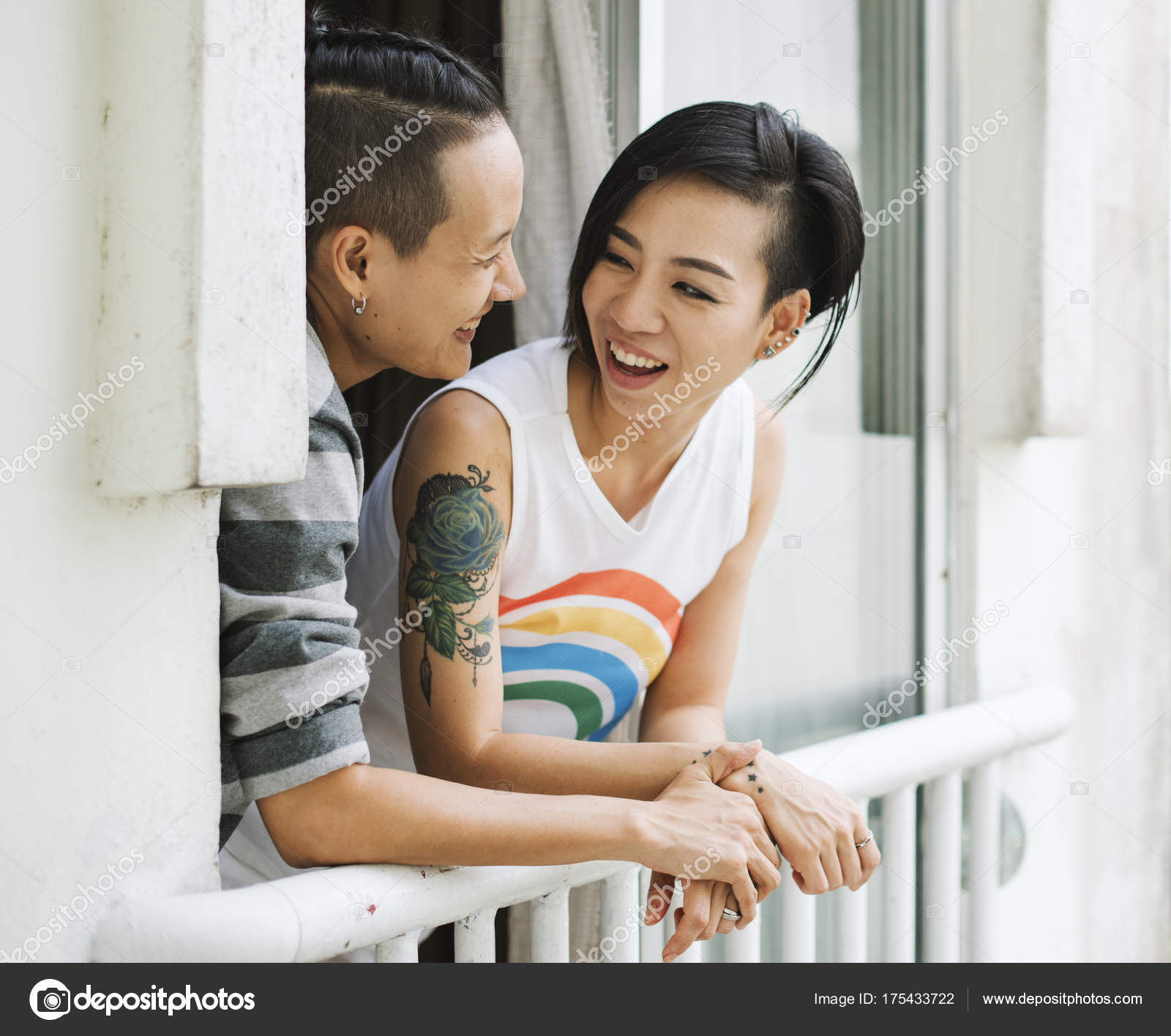 lgbt asian lesbian couple — stock photo © rawpixel #175433722