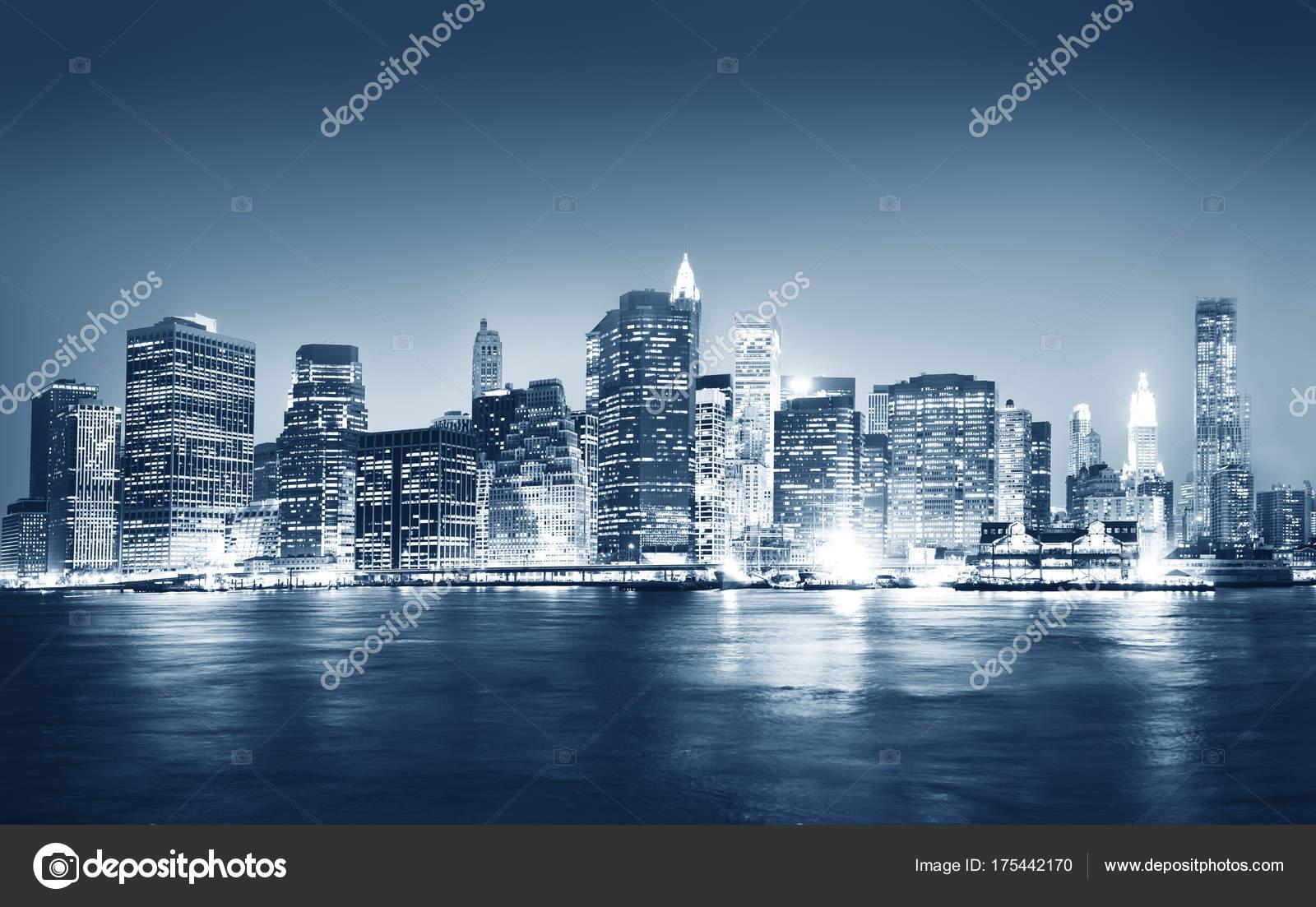 View New York City Night Time Original Photoset Stock Photo C Rawpixel 175442170
