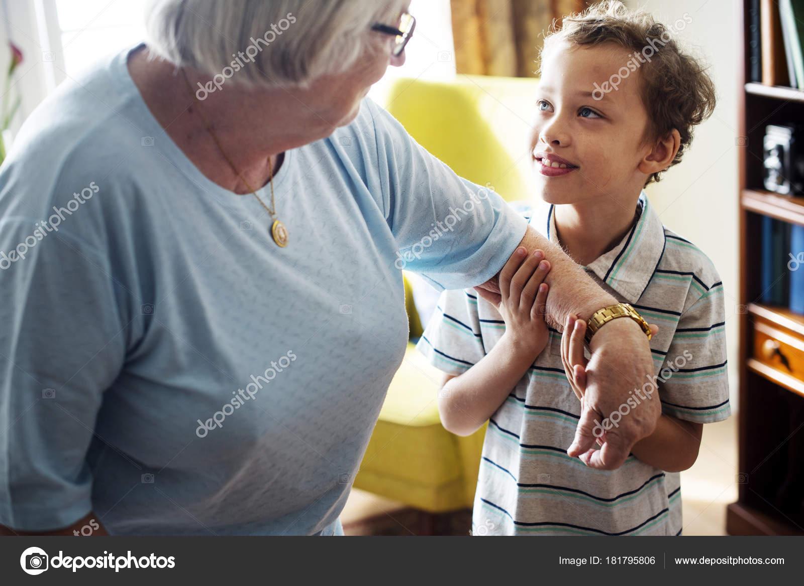 grandma grandson together living room stock photo rawpixel