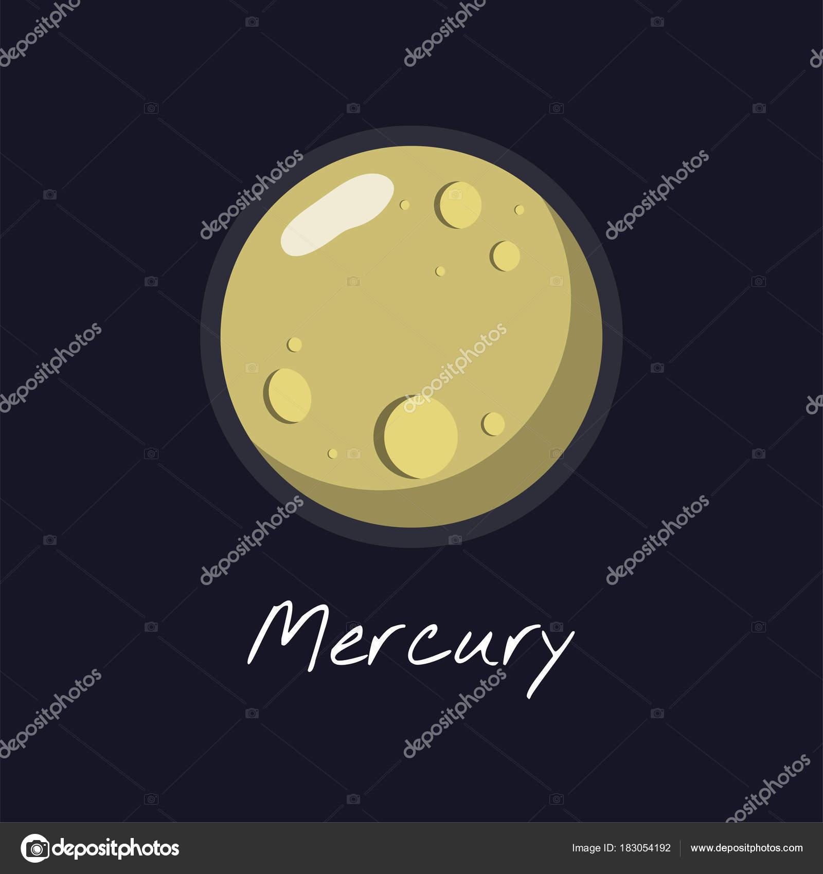 Colorida Ilustración Mercurio Para Educación — Fotos de Stock ...