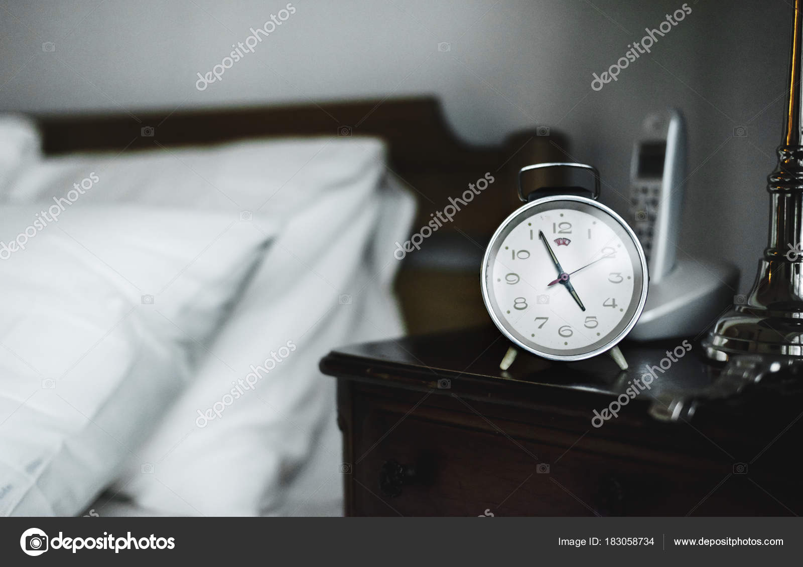 Bedroom Alarm Clock Original Photoset U2014 Stock Photo