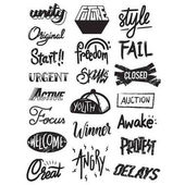 Fotografie Artwork Typographic Illustration Style Concept
