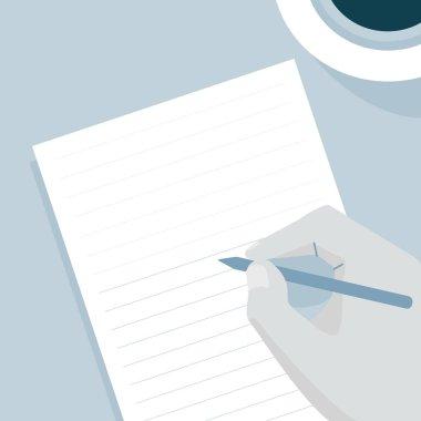 hand Writing illustration concept