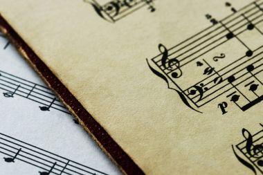 Closeup of musical sheet, original photoset