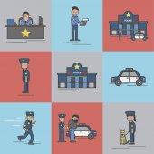 Photo Illustration set of police station