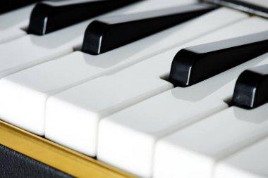 Closeup of piano keyboard, original photoset
