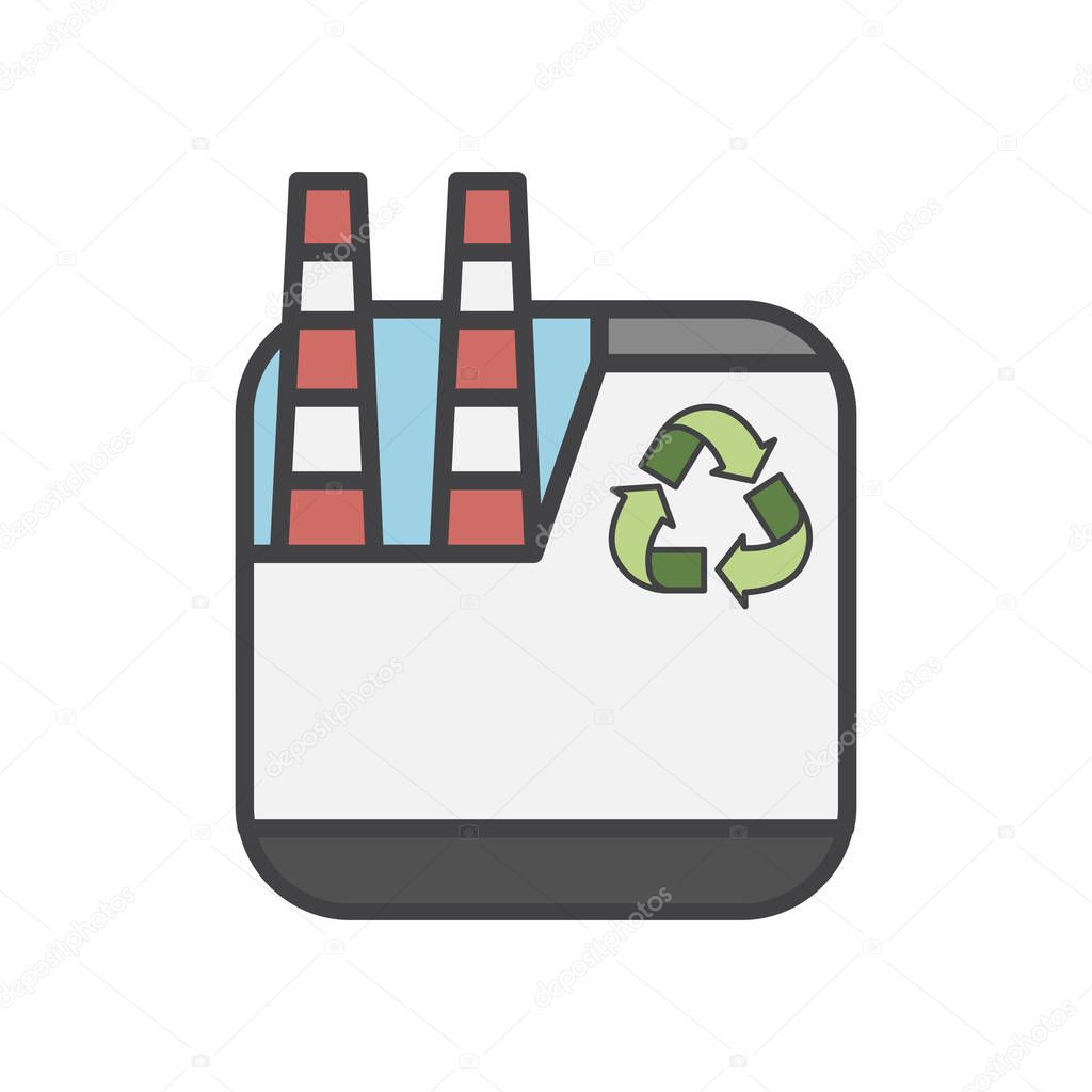 Illustration of environmentally friendly plant icon