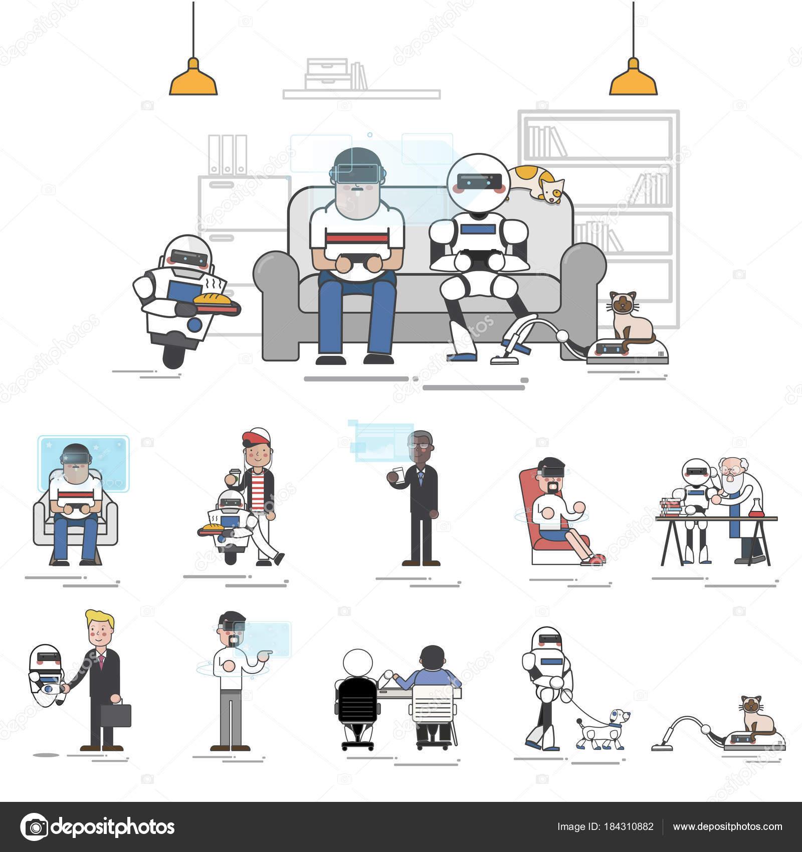 muster roboter konzept stockfoto - Konzept Muster