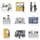 illustration of pattern professions concept