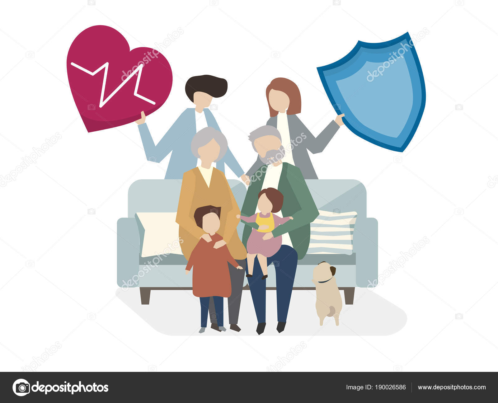 Illustration Family Life Insurance Stock Photo C Rawpixel 190026586