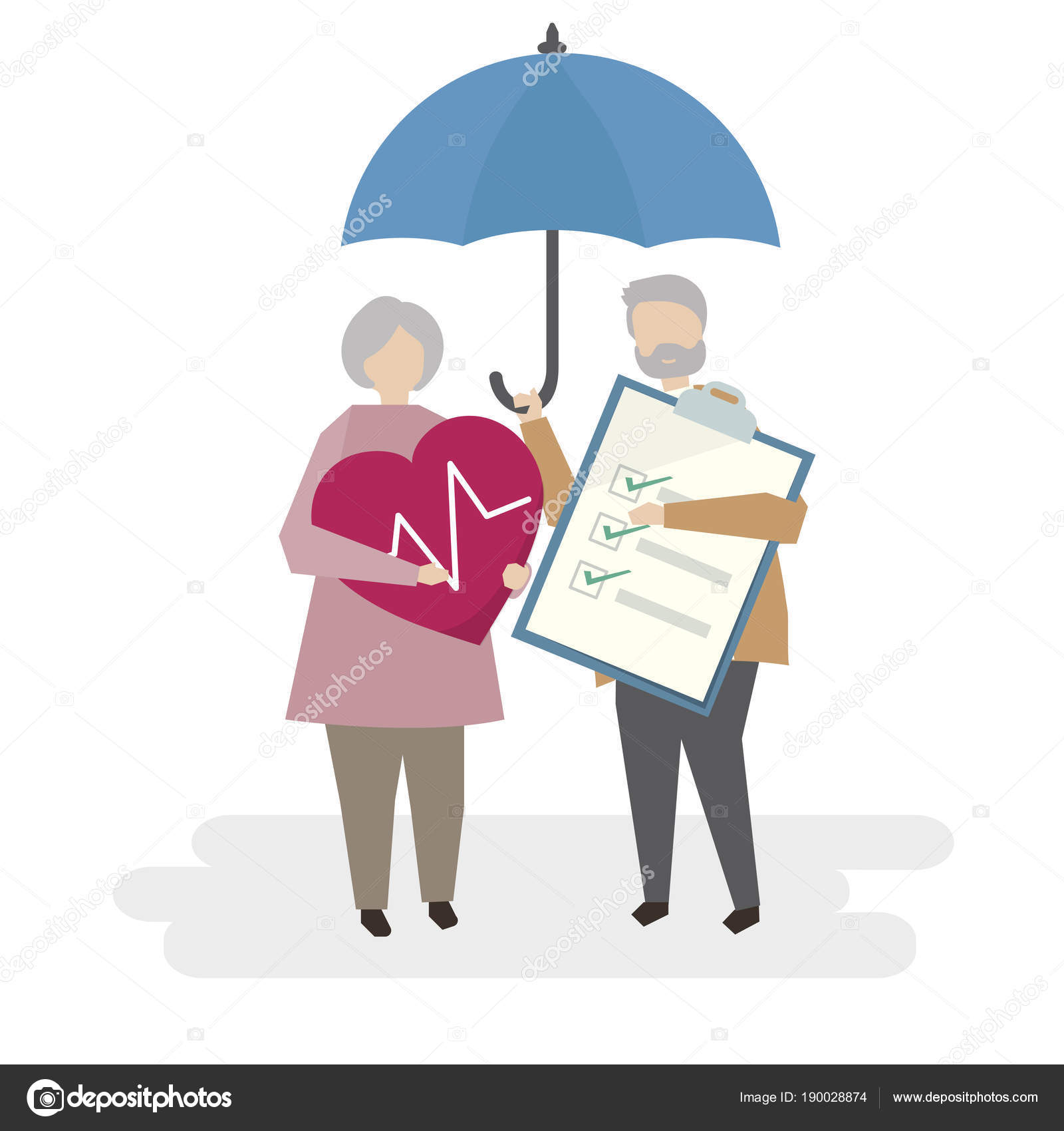 Illustration Seniors Life Insurance Stock Photo C Rawpixel 190028874