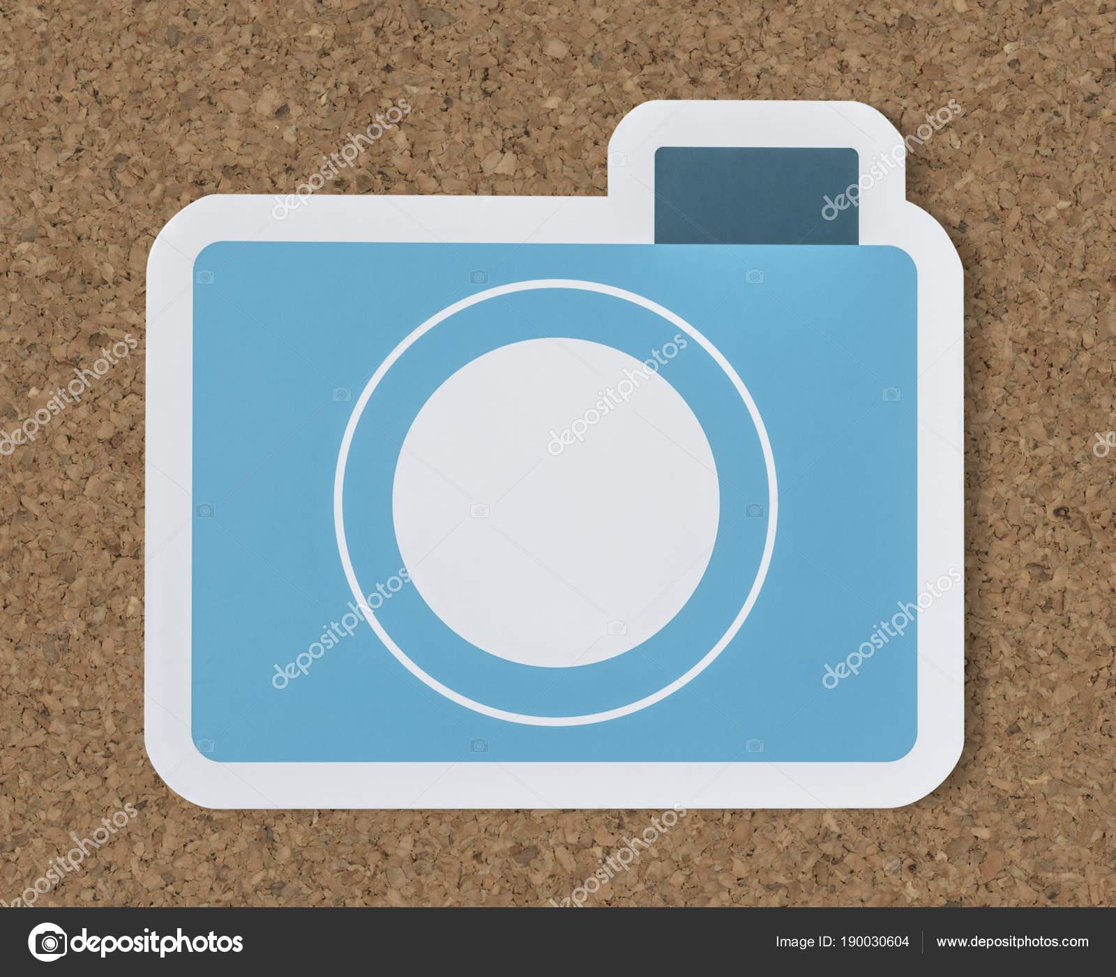 青紙カメラのアイコン ストック写真 rawpixel 190030604