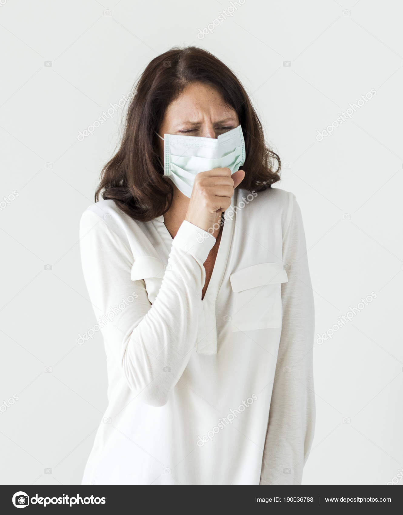 Coughing Stock Mask Photo Rawpixel — Woman © Sick Wearing Surgical