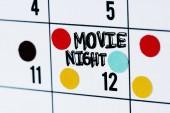Fotografie Movie night calendar reminder