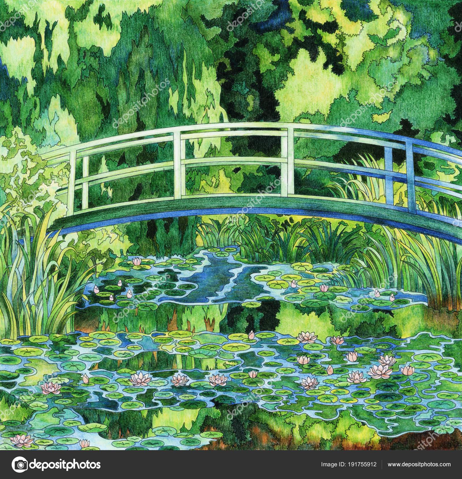 Kleurplaten Waterlelies.Monet Waterlelie Volwassen Kleurplaat Stockfoto C Rawpixel 191755912