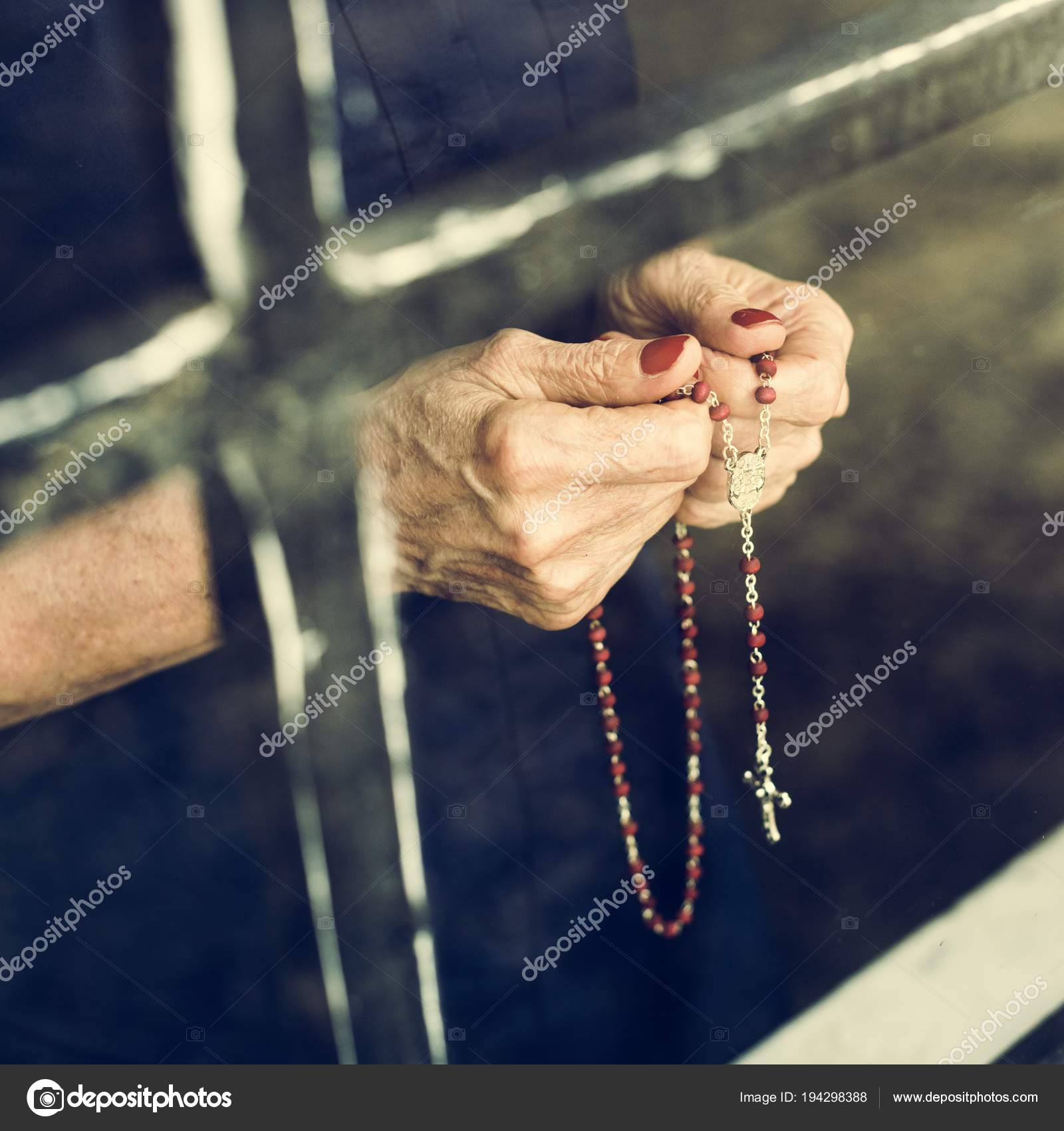 eeb3a6ca1 Female Hands Holding Cross Window Glass — Stock Photo © Rawpixel ...