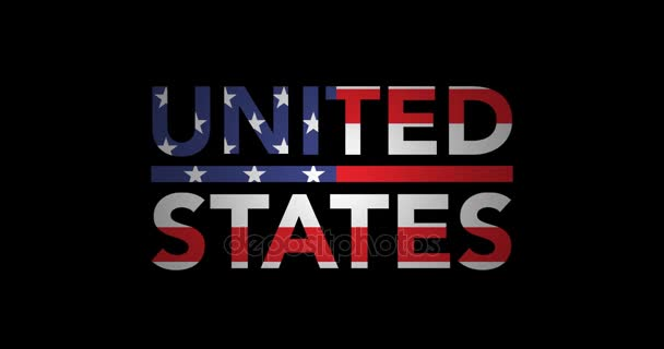 Zooming text United States with flag