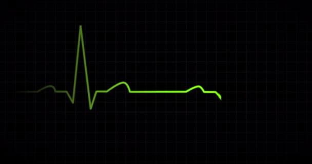 Srdeční tep Ekg monitor zelený