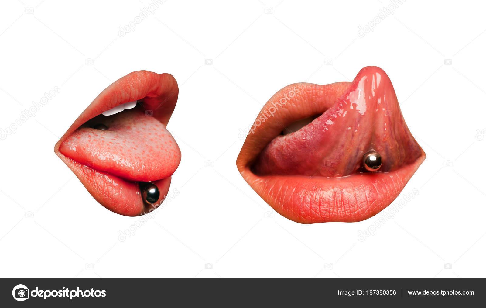 Сексуальный язык девушки
