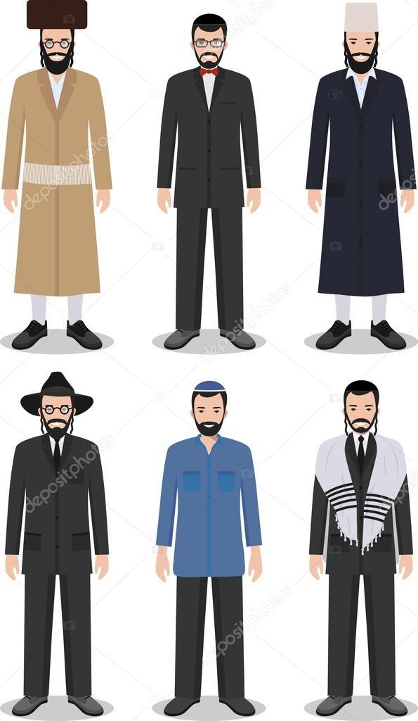 Uomini Diverse Di Abbigliamento Insieme Ebrei In Piedi T85UF