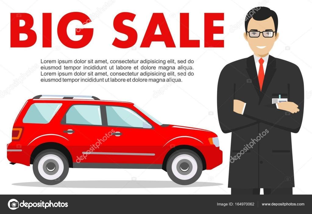 Sala de exposiciones de coches. Gran venta. Gerente vende ...