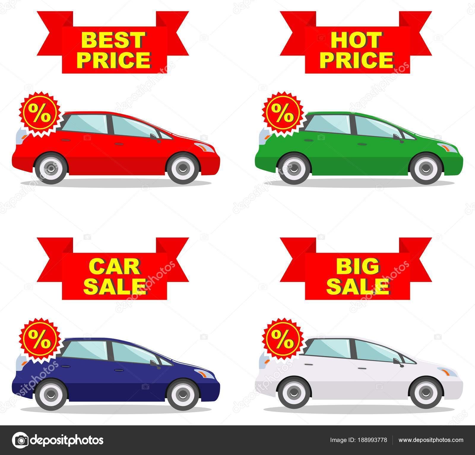 Auto Showroom Grote Verkoop Hete Prijs Set Van Korting Iconen